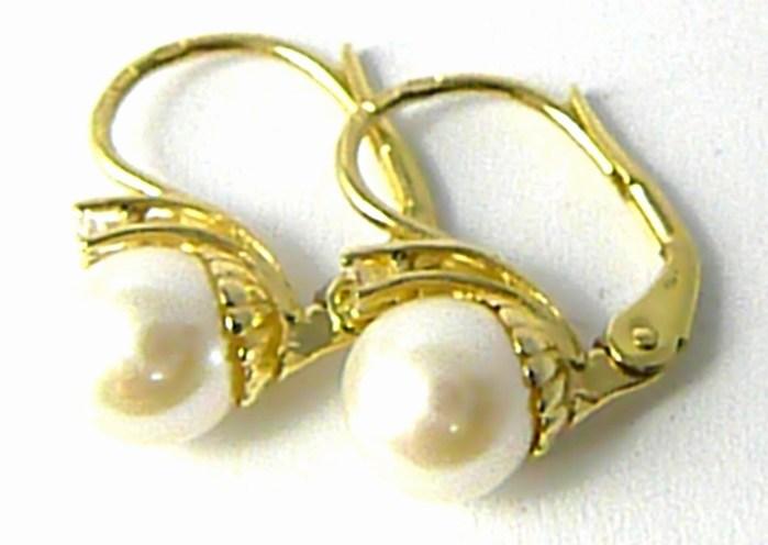 b4d28de74 Dámské zlaté náušnice se sladkovodními perlami (certifikát pravosti) 1,65gr  P644 POŠTOVNÉ ZDARMA!