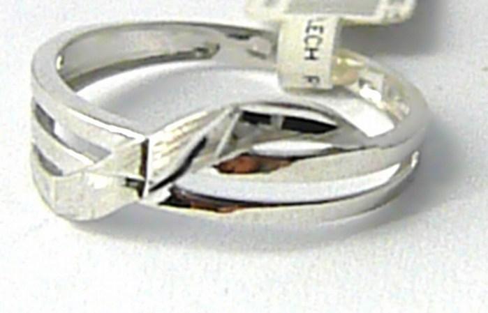 Zlatý prstýnek z bílého zlata s gravírováním 585/1,35gr vel.54 P648 POŠTOVNÉ ZDARMA!