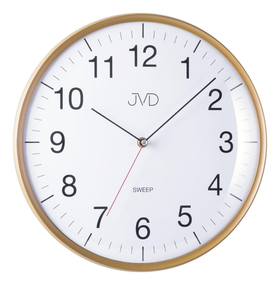 Netikajcí analogové tiché nástěnné hodiny JVD HA16.3