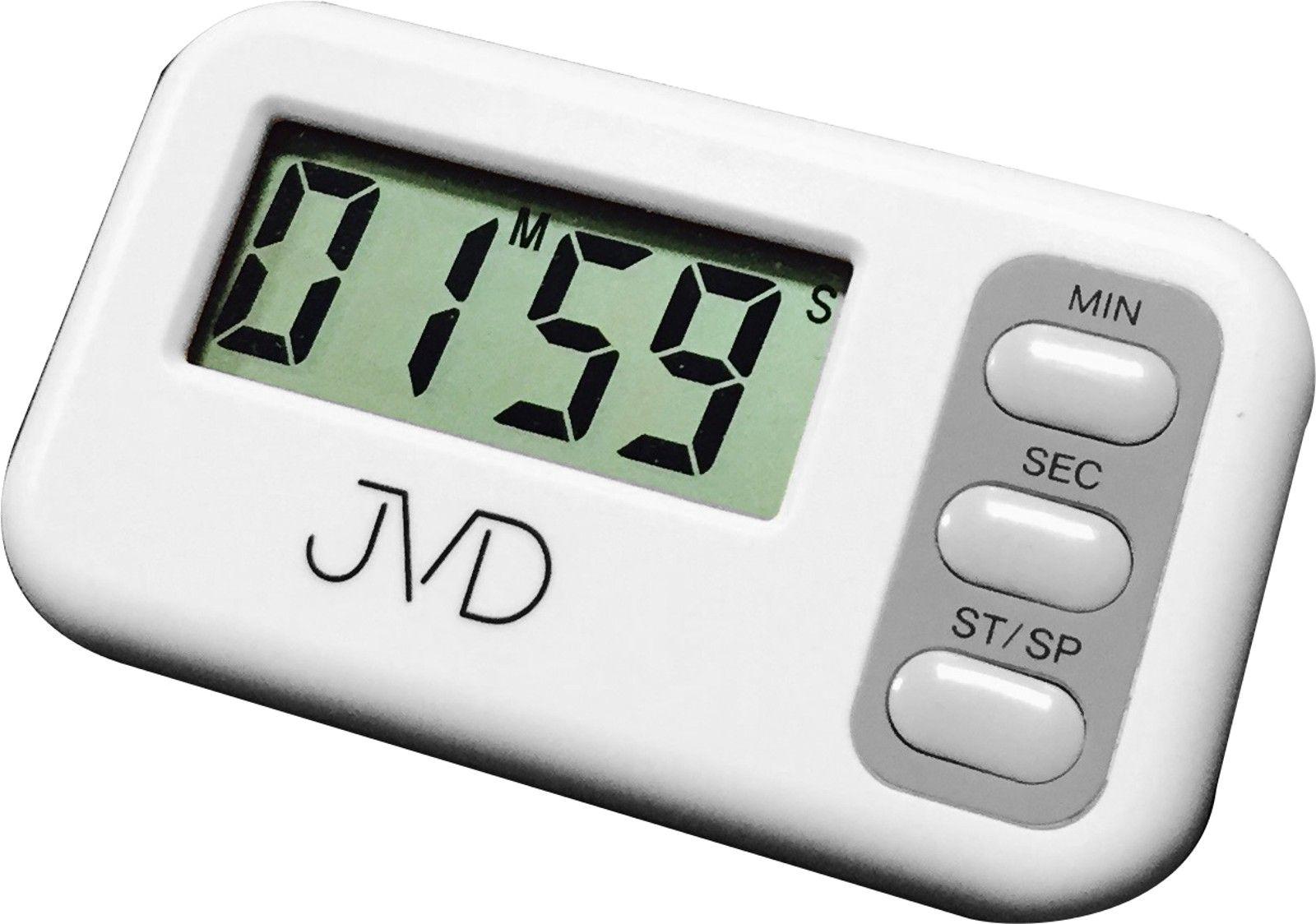 Bílá jednoduchá digitální minutka JVD DM62