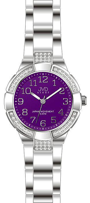 Dámské voděodolné ocelové zlaté hodinky JVD J4083.2 - 5ATM