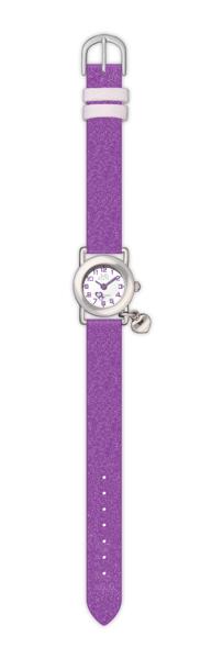 Dětské bílé náramkové hodinky JVD basic J7025.5 se srdíčkem