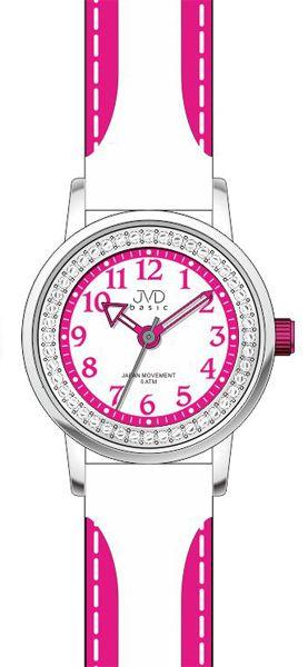 Dětské fialovo - bílé náramkové hodinky JVD basic J7089.6