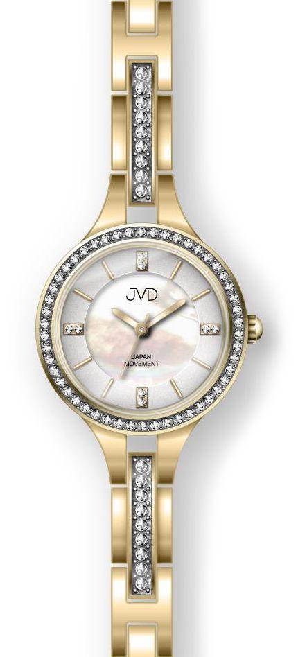 Šperkové zlaté dámské ocelové hodinky JC045.2 s elegantními kamínky  POŠTOVNÉ ZDARMA!! cafaa0bea3
