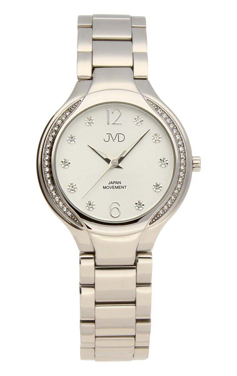 Šperkové perleťové nerezové dámské hodinky JVD JC068.1 - 5ATM s krystalky POŠTOVNÉ ZDARMA!!