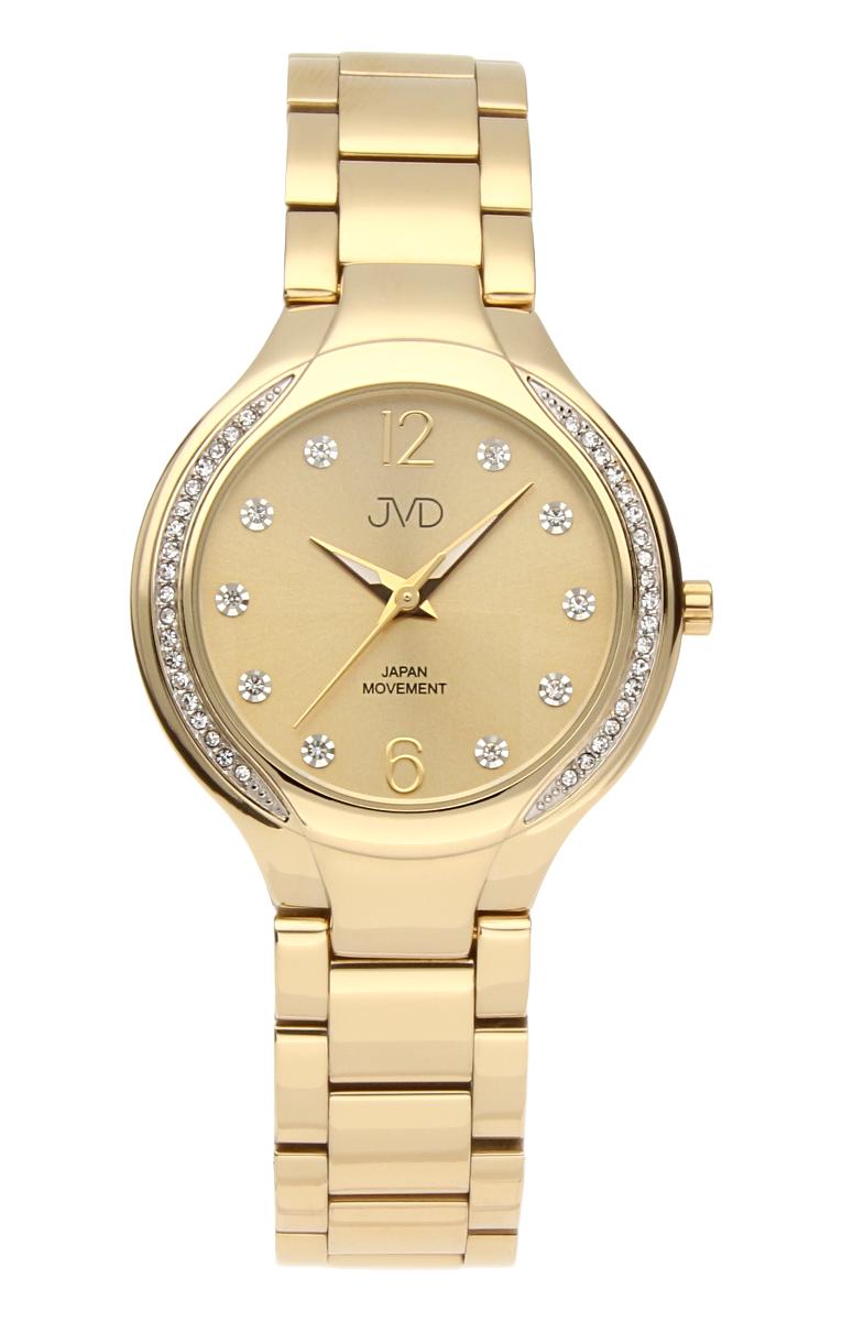 Šperkové perleťové nerezové dámské hodinky JVD JC068.2 - 5ATM s krystalky POŠTOVNÉ ZDARMA!!