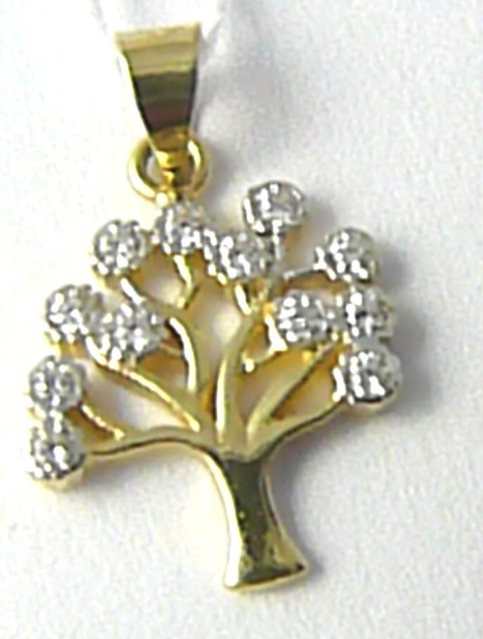 Velký přívěsek ze žlutého zlata - strom života 585/1,30gr H634