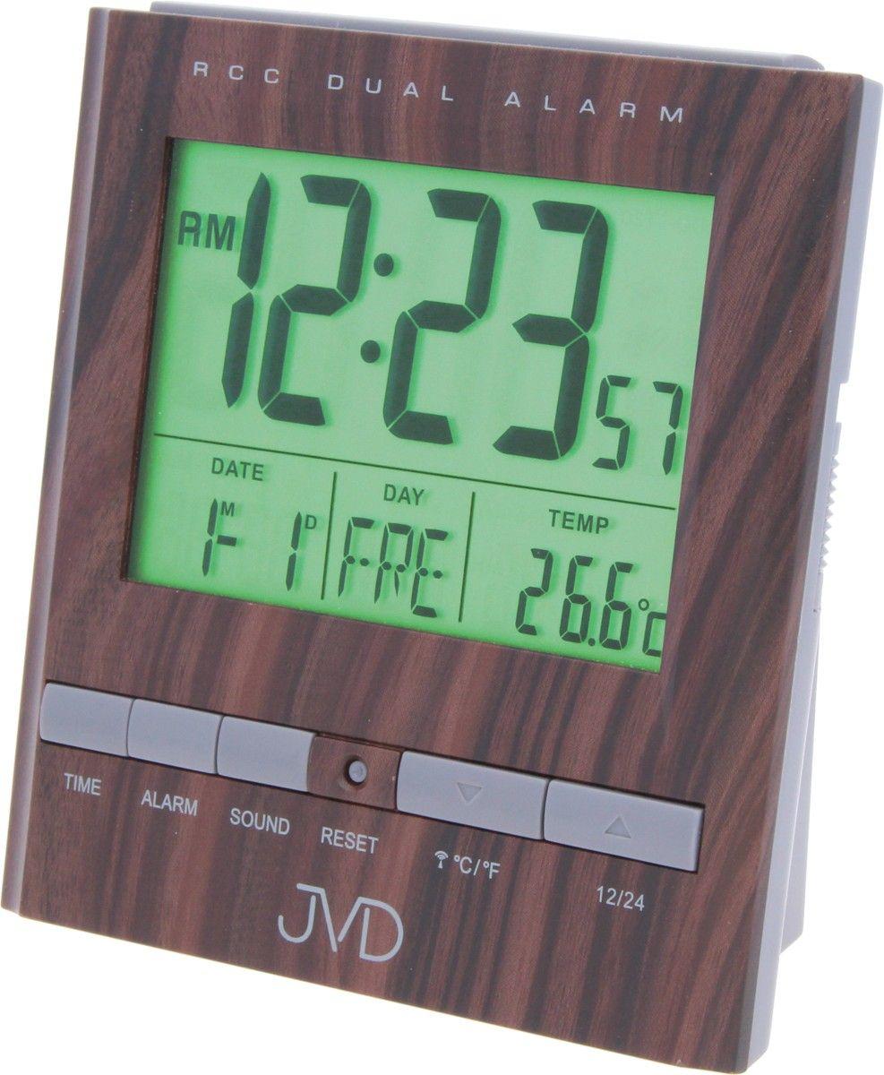 Rádiem řízený digitální budík JVD RB92.3 s měřením vnitřní teploty