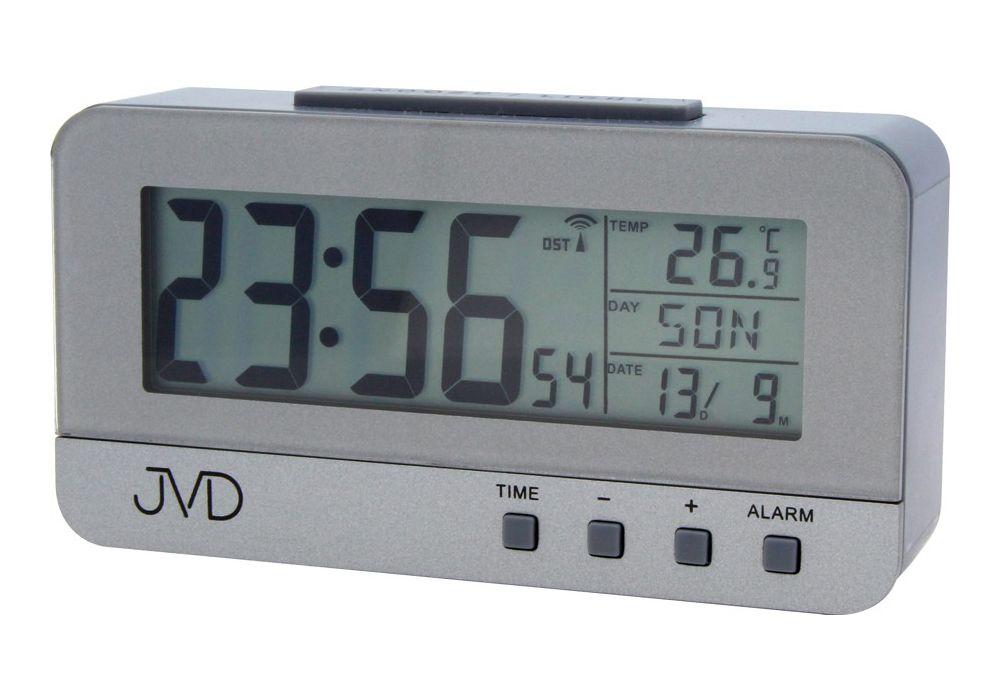 Rádiem řízený digitální budík JVD RB91 s teploměrem a podsvícením