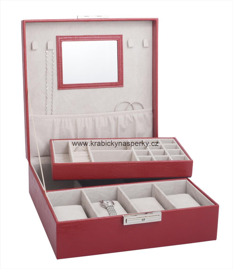 Praktická červená šperkovnice SP941-A7