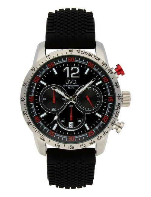 Pánské černé vodotěsné sportovní hodinky JVD chronograph J1102.2 - 10ATM POŠTOVNÉ ZDARMA!! (POŠTOVNÉ ZDARMA!!)