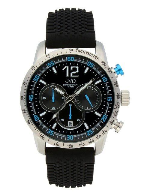 Pánské černé vodotěsné sportovní hodinky JVD chronograph J1102.3 - 10ATM POŠTOVNÉ ZDARMA!!