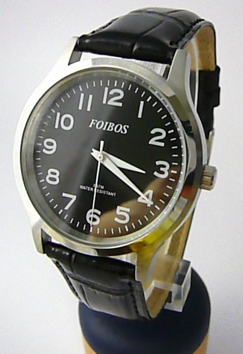 2186b97eb8d Pánské elegantní stříbrné čitelné velké hodinky Foibos 3882.4 3ATM