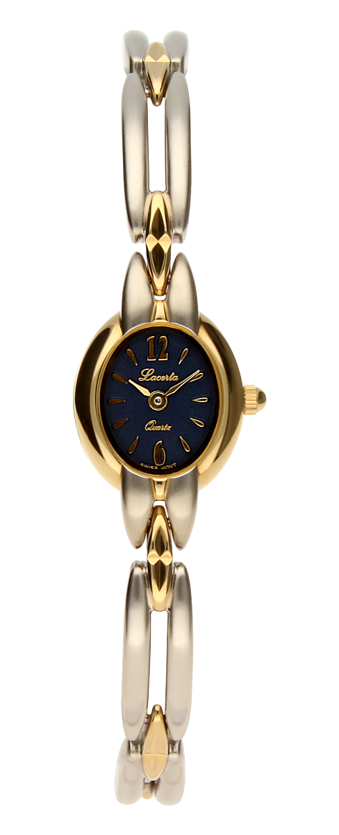 Šperkové švýcarské dámské hodinky Lacerta 751 273 79 pozlacené 3MIC
