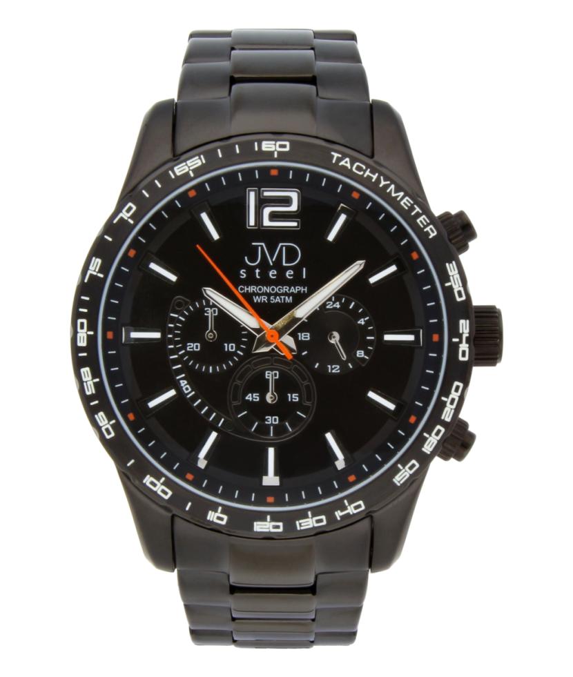 Vysoce odolné černé voděodolné hodinky s chronografem JA605.2 POŠTOVNÉ ZDARMA!! (POŠTOVNÉ ZDARMA!!)