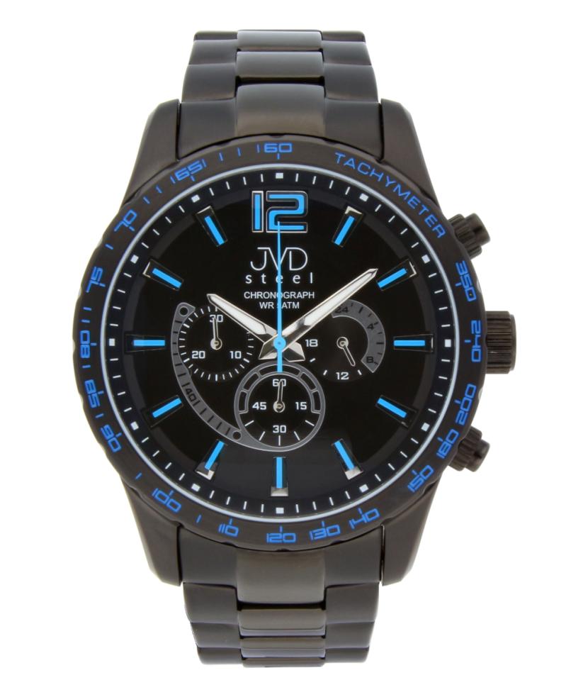 Vysoce odolné černé voděodolné hodinky s chronografem JA605.3 POŠTOVNÉ ZDARMA!! (POŠTOVNÉ ZDARMA!!)