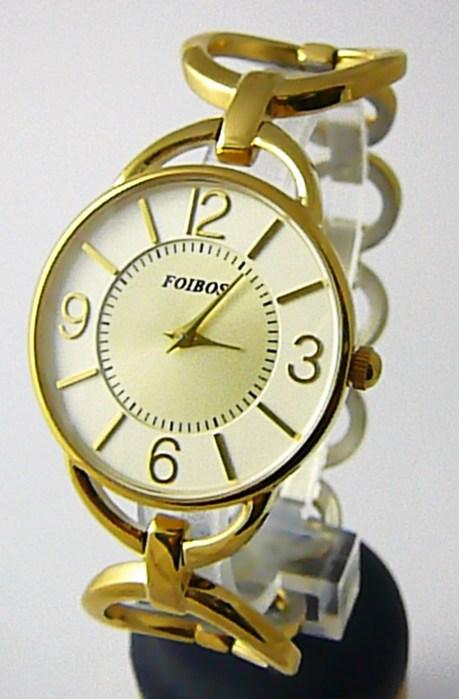 Dámské ocelové zlacené čitelné přehledné hodinky Foibos 45801 - pozlacené POŠTOVNÉ ZDARMA!! (POŠTOVNÉ ZDARMA)