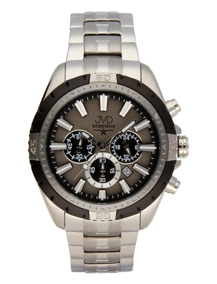 03041533d38 Černé vodotěsné odolné pánské nerezové hodinky JVD steel JA1913.1 s  chronografem POŠTOVNÉ ZDARMA!