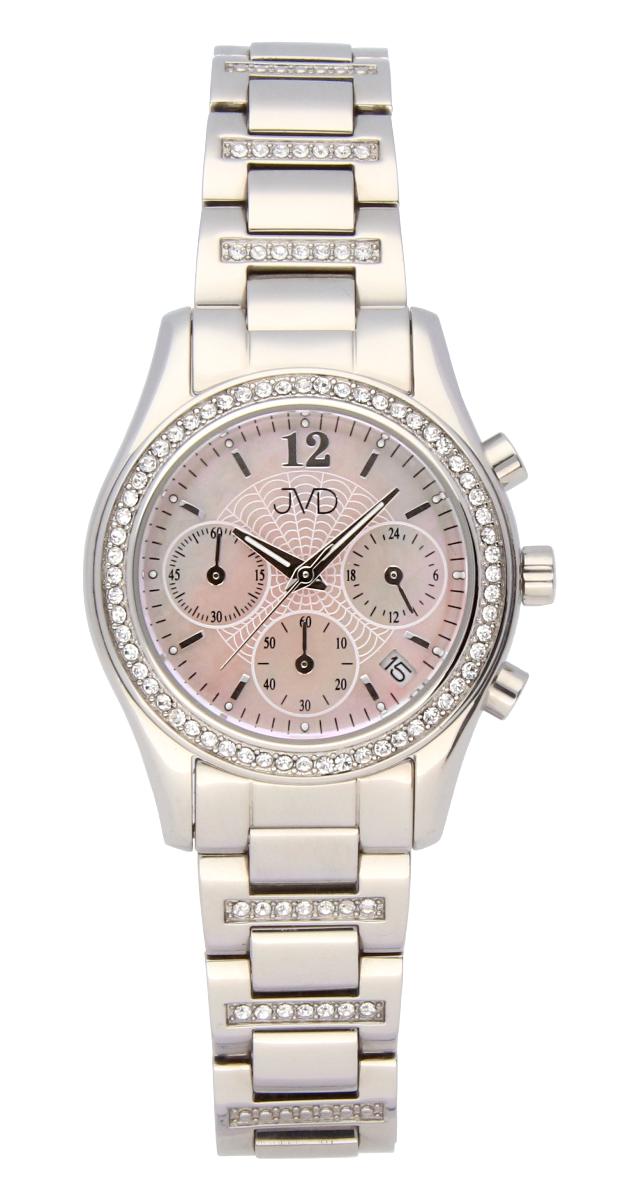 Luxusní šperkové dámské hodinky JVD JC130.1 s chronografem - voděodolné (POŠTOVNÉ ZDARMA!!)