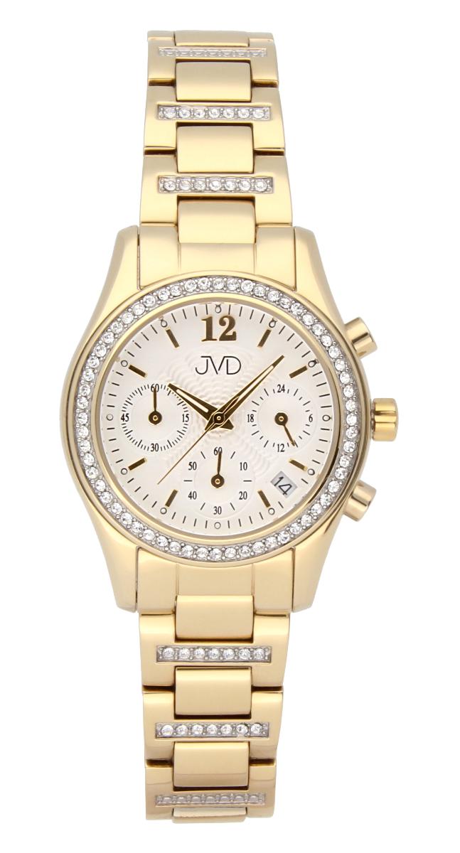 Luxusní šperkové dámské hodinky JVD JC130.2 s chronografem - voděodolné (POŠTOVNÉ ZDARMA!!)