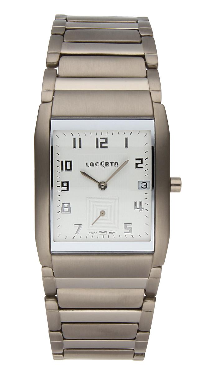 Luxusní pánské švýcarské titanové hodinky Lacerta 109 C9 552 se safírovým sklem