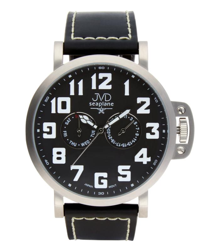 d5880bcfb13 Luxusní pánské vodotěsné ocelové hodinky hodinky JVD Seaplane JA1323.1  (POŠTOVNÉ ZDARMA!