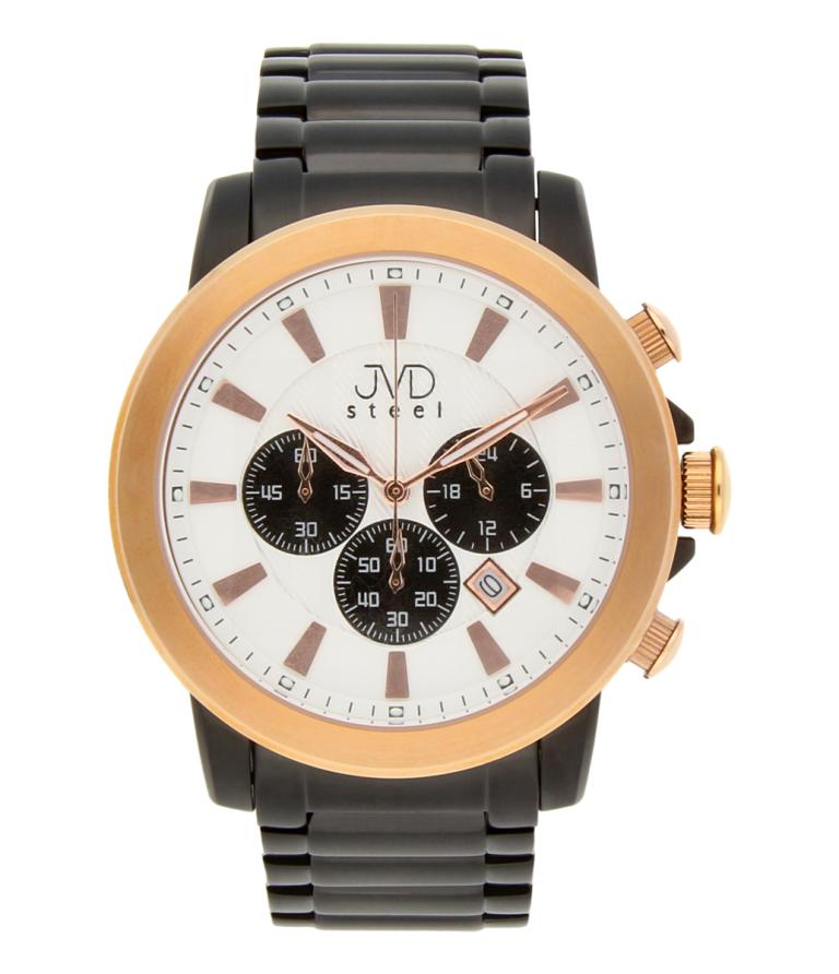Mohutné ocelové moderní vodotěsné hodinky JVD C725.3 - chronograf 10ATM POŠTOVNÉ ZDARMA!! (POŠTOVNÉ ZDARMA!!)