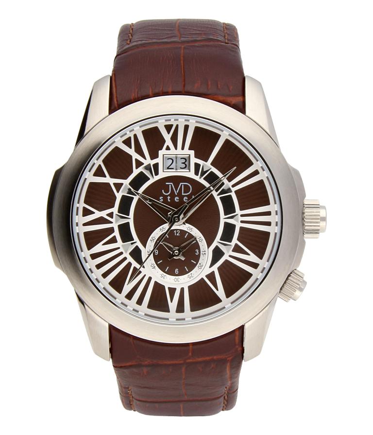 Pánské vodotěsné retro hodinky J1190.3 s římskými číslicemi RETRO POŠTOVNÉ ZDARMA!! (POŠTOVNÉ ZDARMA!!)