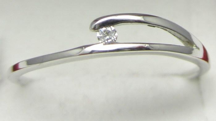 Zlatý zásnubní prsten z bílého zlata se zirkonem vel. 58 585/1,05 gr Z130 POŠTOVNÉ ZDARMA!! (323041244)