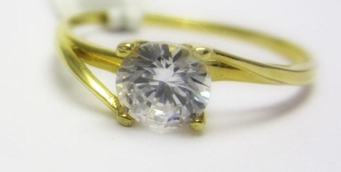 Luxusní zásnubní zlatý prsten s velkým zirkonem 585/1,25 gr vel. 55 P684 POŠTOVNÉ ZDARMA!! (4515042)