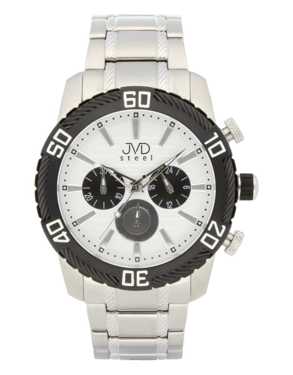 Mohutné pánské celonerezové vodotěsné hodinky JVDC 1130.2 s chronografem 10ATM POŠTOVNÉ ZDARMA!! (POŠTOVNÉ ZDARMA!!)