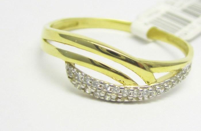 Luxusní zlatý prsten se zirkony 585/1,45 gr vel. 59 P724 POŠTOVNÉ ZDARMA!!
