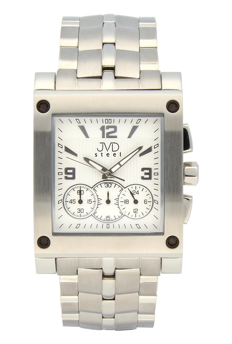 Ocelové pánské hodinky JVDC 705.1 - chronograf se stopkami POŠTOVNÉ ZDARMA!! (POŠTOVNÉ ZDARMA!!)