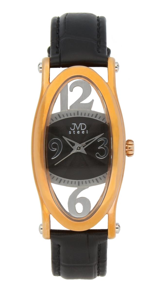 Dámské šperkové ocelové hodinky JVDC 735.2 s průhledným číselníkem POŠTOVNÉ ZDARMA!! (POŠTOVNÉ ZDARMA!!!)