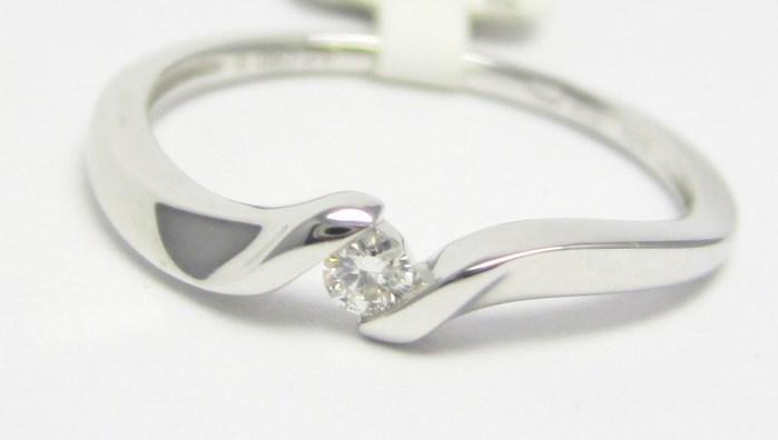 Zásnubní diamantový prsten z bílého zlata 0,05ct 3860690 POŠTOVNÉ ZDARMA!!