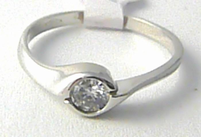 Zásnubní zlatý prstýnek z bílého zlata se zirkonem 585/1,81gr vel. 54 H675 POŠTOVNÉ ZDARMA!! (POŠTOVNÉ ZDARMA!!!!)