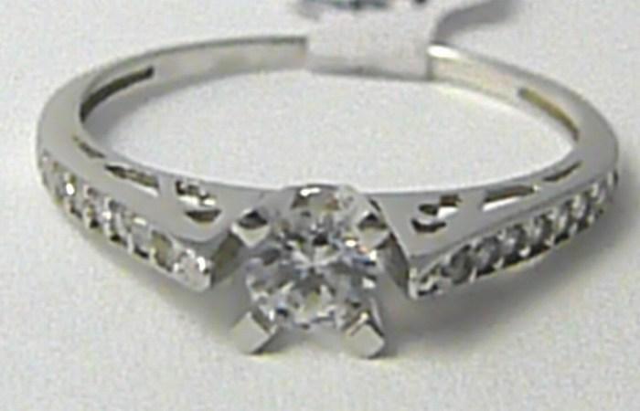 Mohutný zlatý zásnubní prsten z bílého zlata 585/1,75gr vel. 57 H676 POŠTOVNÉ ZDARMA!! (POŠTOVNÉ ZDARMA!!!!)