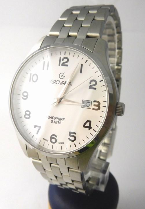 Luxusní pánské švýcarské hodinky Grovana 1568.1133 se safírovým sklem 5ATM POŠTOVNÉ ZDARMA!! (1568.1133)