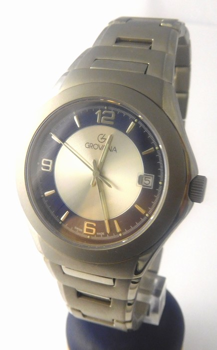 Pánské švýcarské celotitanové hodinky Grovana 1520.1198 (antialergické) POŠTOVNÉ ZDARMA!! (1520.1198)