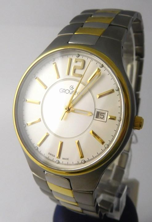 Pánské švýcarské celotitanové hodinky Grovana 1503.1122 POŠTOVNÉ ZDARMA!! (1503.1122)