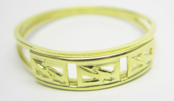 Celozlatý prsten s gravírováním vel.63 585/1,80gr 221041036