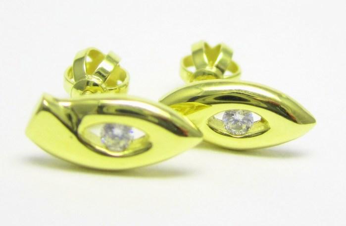 Zlaté dámské náušnice na šroubek se zirkony 585/1,55 gr Z150 POŠTOVNÉ ZDARMA!!