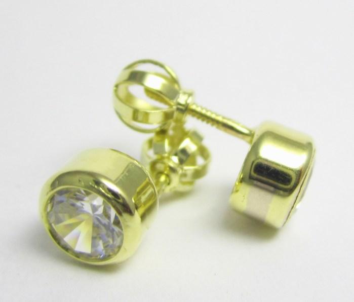 Zlaté dámské náušnice na šroubek se zirkony 585/1,85 gr Z151 POŠTOVNÉ ZDARMA!!