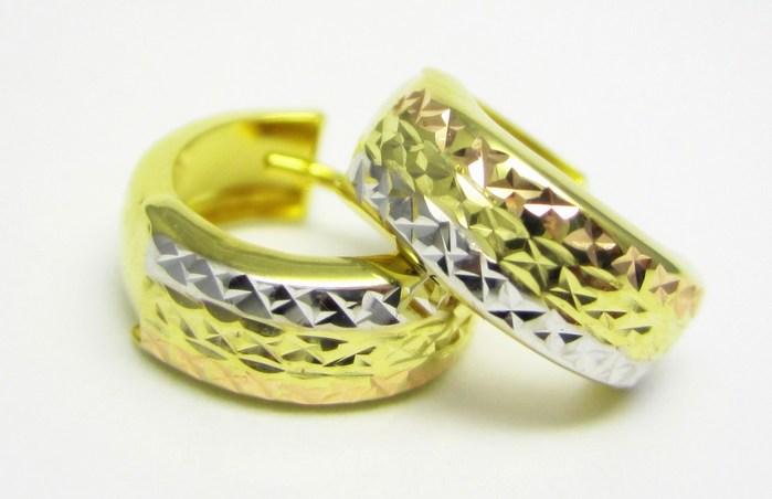 Dámské luxusní gravírované kruhy v kombinaci zlata 585/1,15gr P735 POŠTOVNÉ ZDARMA!! (1430868)