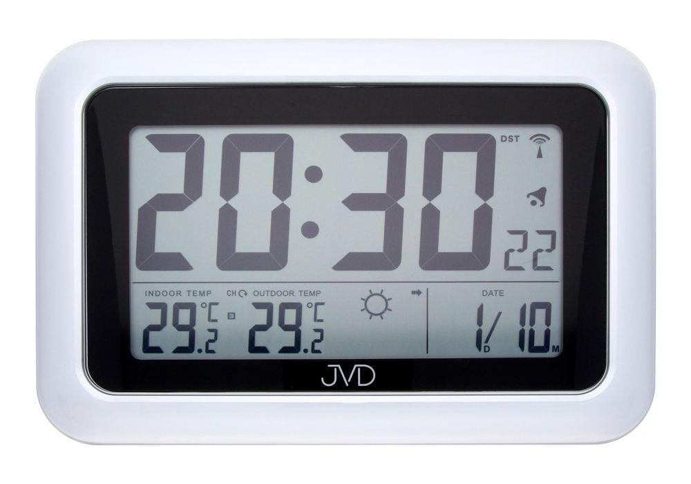 Rádiem řízené digitální hodiny s budíkem JVD RB36.1 POŠTOVNÉ ZDARMA!! (POŠTOVNÉ ZDARMA!!METEOSTANICE)