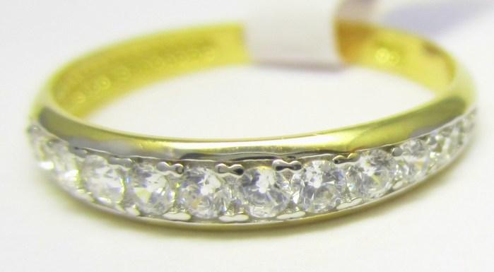 Elegantní prstýnek ze žlutého zlata se zirkony vel.53 585/1,40gr H695 POŠTOVNÉ ZDARMA!!
