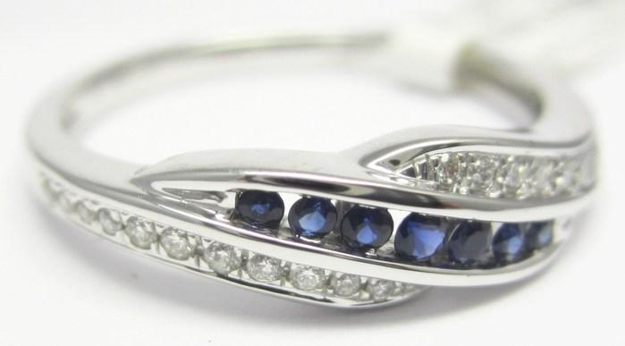 Luxusní prsten s diamantem, bílé zlato briliant, přírodní safír vel.54 P741 POŠTOVNÉ ZDARMA!! ( 3860481 - IHNED k odeslání!!!)