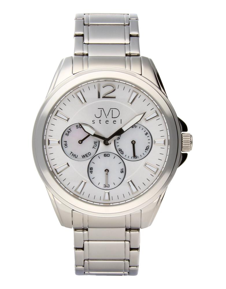 Ocelové moderní pánské hodinky hodinky JVDW 36.1 se třemi ciferníky POŠTOVNÉ ZDARMA!! (POŠTOVNÉ ZDARMA!!!)