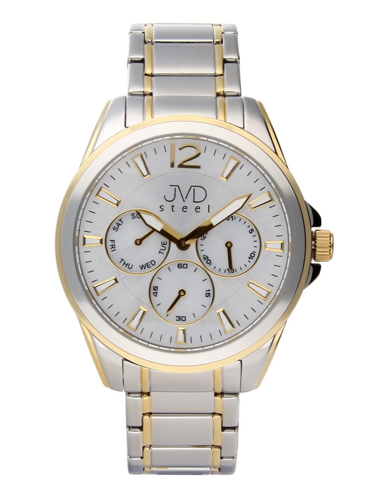 Ocelové moderní pánské hodinky hodinky JVDW 36.2 se třemi ciferníky POŠTOVNÉ ZDARMA!! (POŠTOVNÉ ZDARMA!!!)