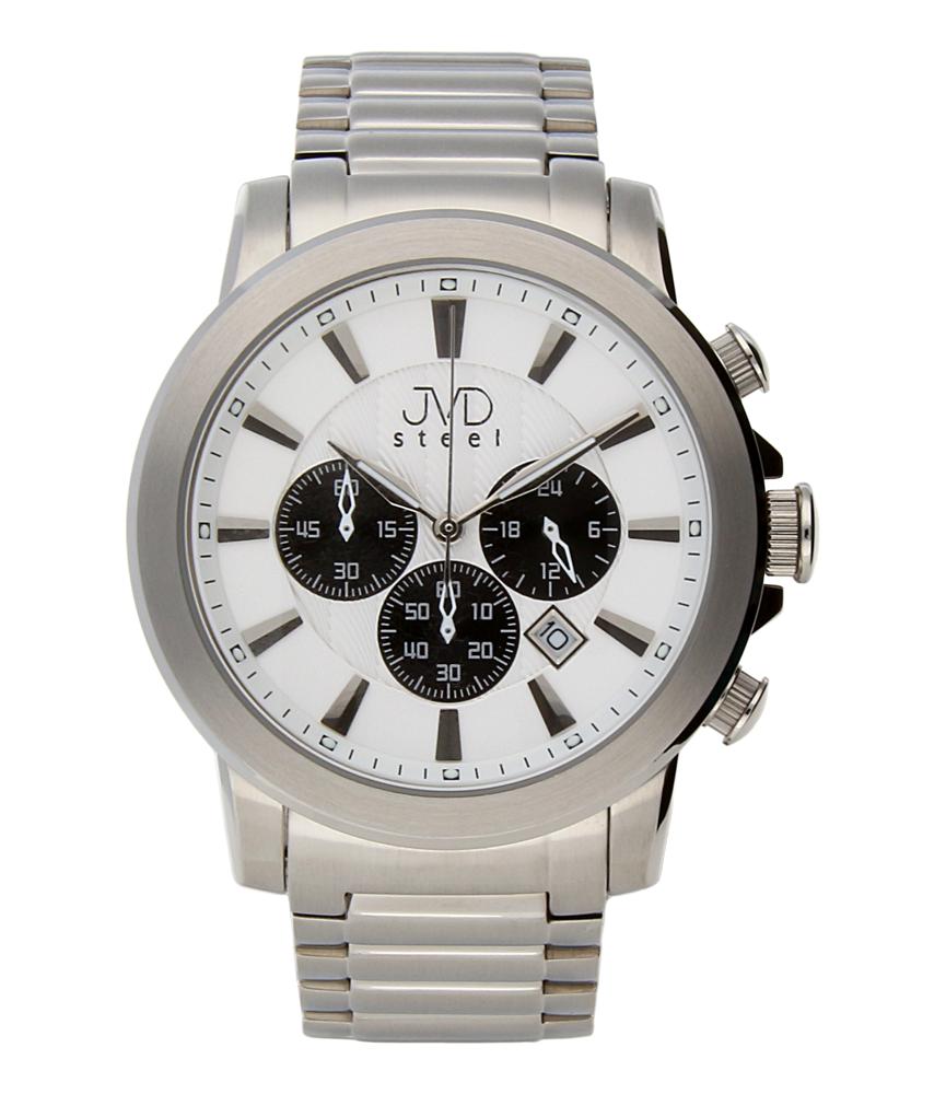 Mohutné ocelové moderní vodotěsné hodinky JVD C725.2 - chronograf 10ATM POŠTOVNÉ ZDARMA!! (POŠTOVNÉ ZDARMA!!)